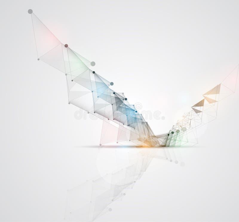 Nieuwe technologie bedrijfsachtergrond vector illustratie