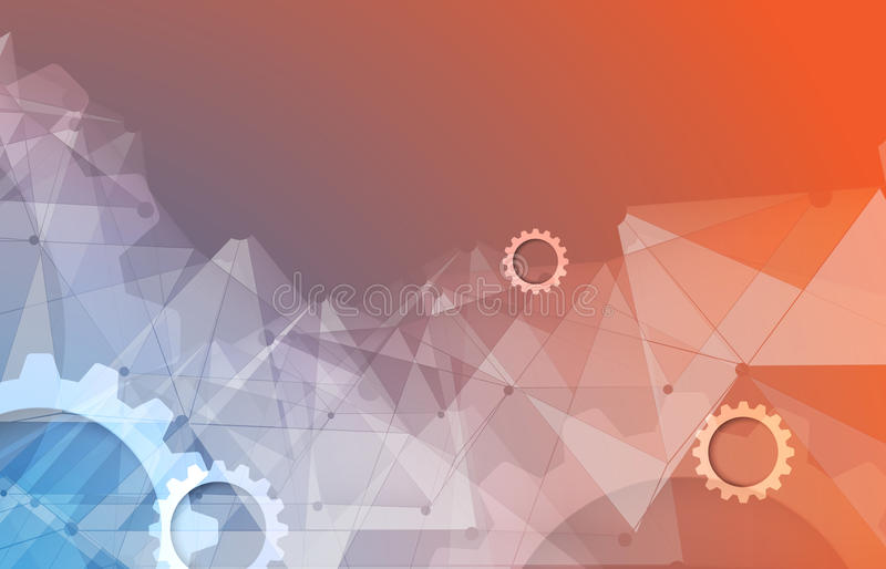 Nieuwe technologie bedrijfsachtergrond royalty-vrije illustratie
