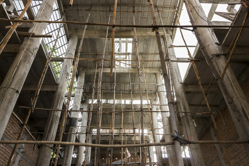 Nieuwe tempelbouw stock afbeeldingen