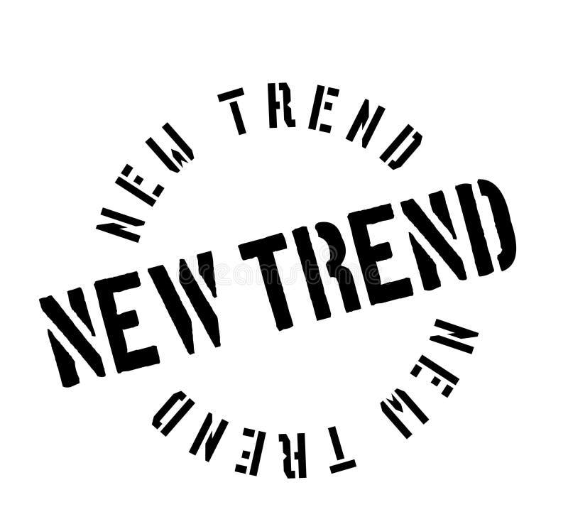 Nieuwe Tendens rubberzegel stock illustratie