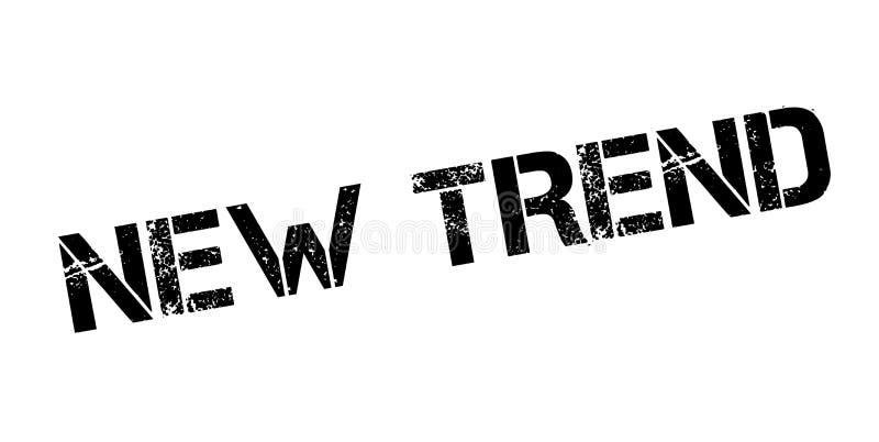 Nieuwe Tendens rubberzegel vector illustratie