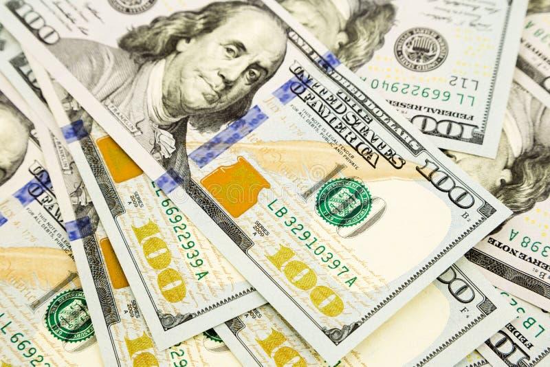 Nieuwe uitgave 100 dollarsbankbiljetten, geld voor bezit en rijkdom royalty-vrije stock afbeelding