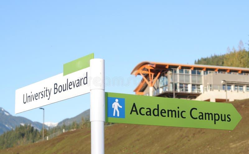 Nieuwe Universiteit stock afbeelding