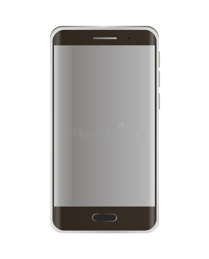 Nieuwe versie van moderne smartphone van het randscherm met het lege witte scherm Vector illustratie op witte achtergrond royalty-vrije illustratie