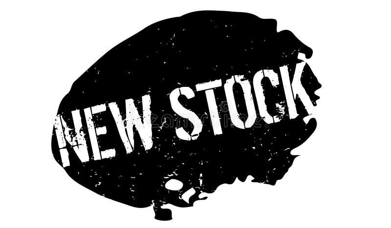 Nieuwe voorraad rubberzegel stock illustratie