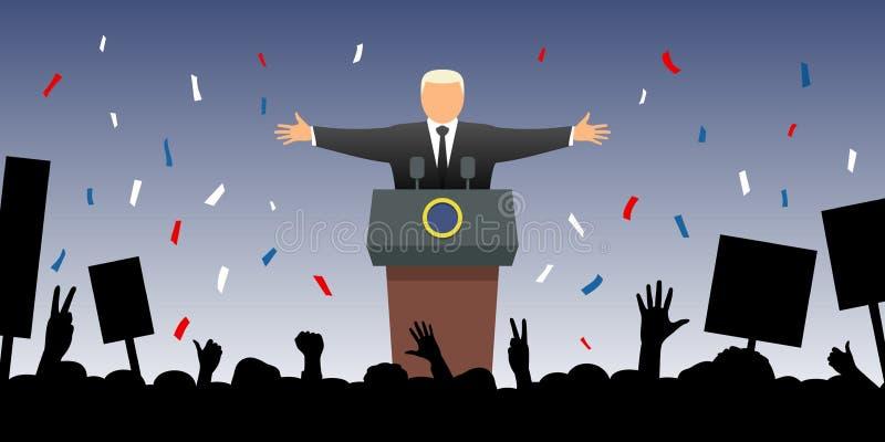 Nieuwe voorzitter stock illustratie