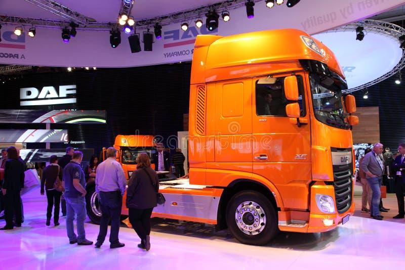 Nieuwe Vrachtwagen DAF XF Euro 6 stock afbeeldingen