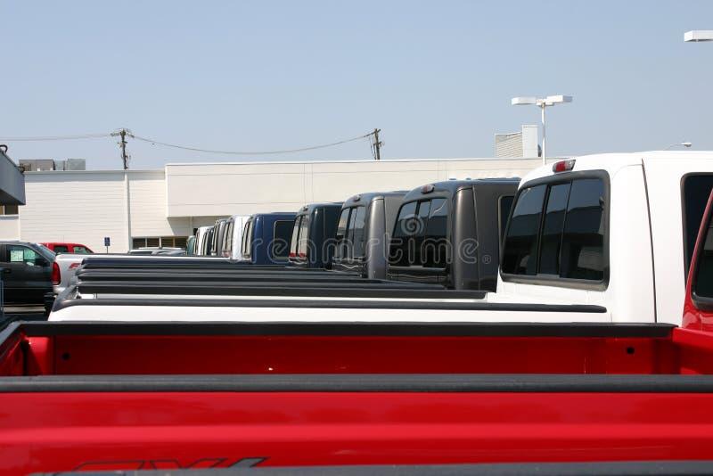 Nieuwe Vrachtwagens stock fotografie