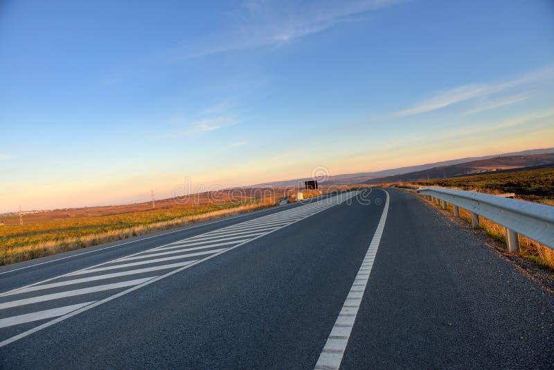 Nieuwe wegweg stock foto