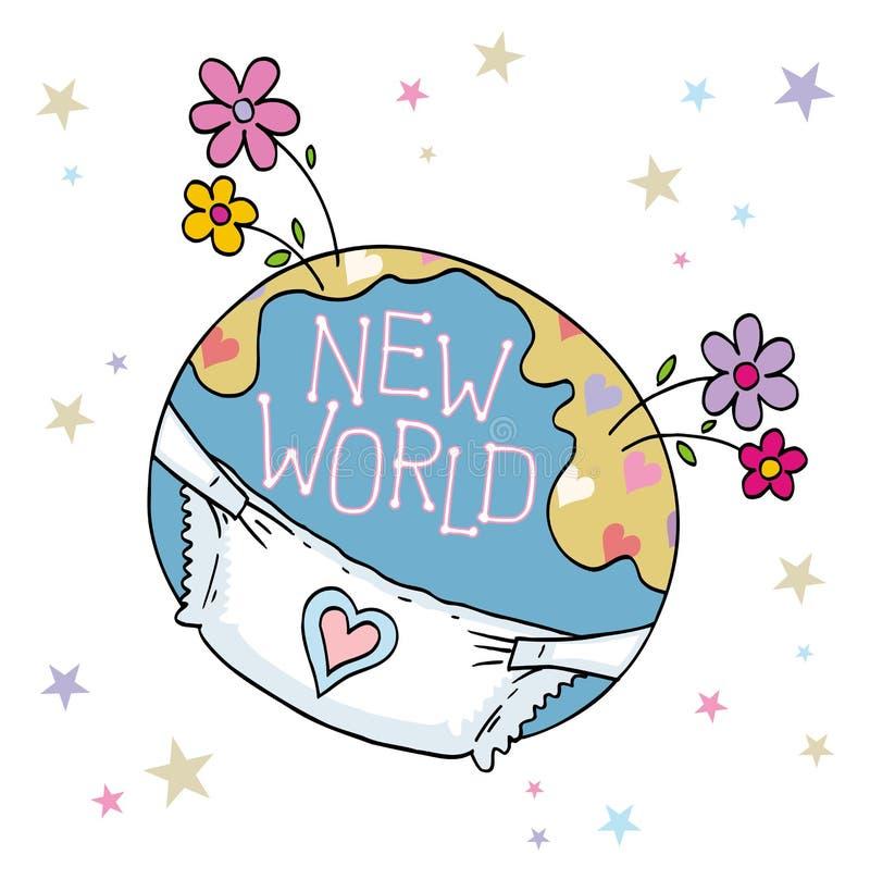Nieuwe wereld royalty-vrije illustratie