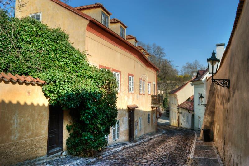 Nieuwe wereld in Praag stock afbeeldingen