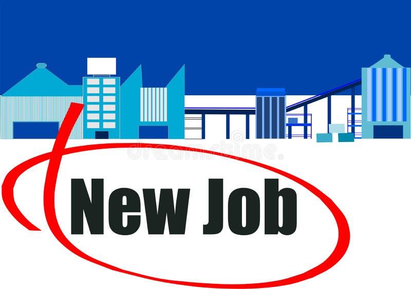 Nieuwe werkgelegenheidskansen royalty-vrije illustratie