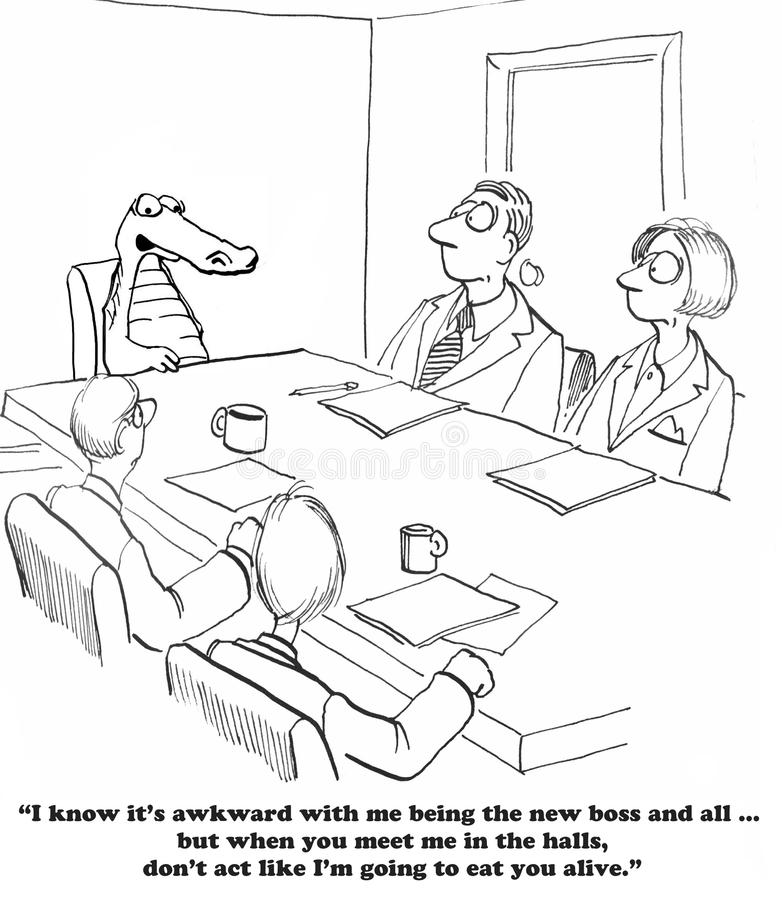 Nieuwe Werkgever royalty-vrije illustratie