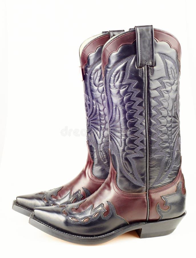Nieuwe westelijke laarzen royalty-vrije stock afbeelding