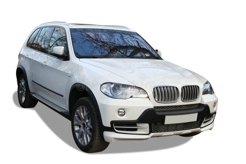 Nieuwe witte auto stock foto's