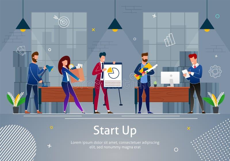 Nieuwe Zakelijk projectontwikkeling en Innovatie royalty-vrije illustratie