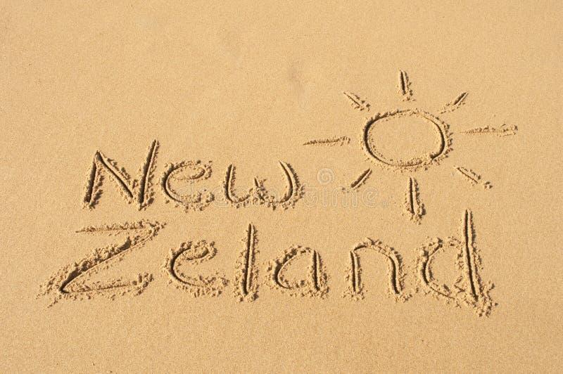Nieuwe Zeland in het Zand stock foto
