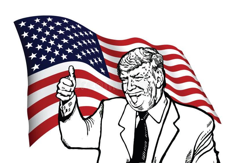 Nieuwgekozen president Donald Trump vector illustratie