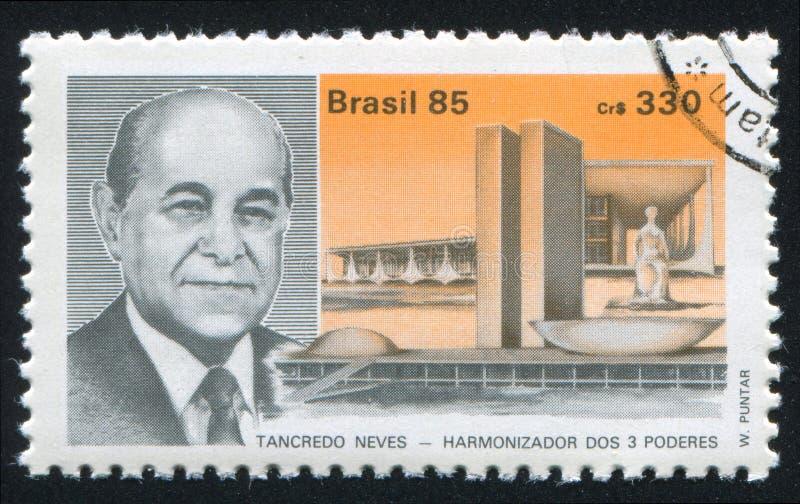 Nieuwgekozen president Tancredo Neves royalty-vrije stock afbeeldingen