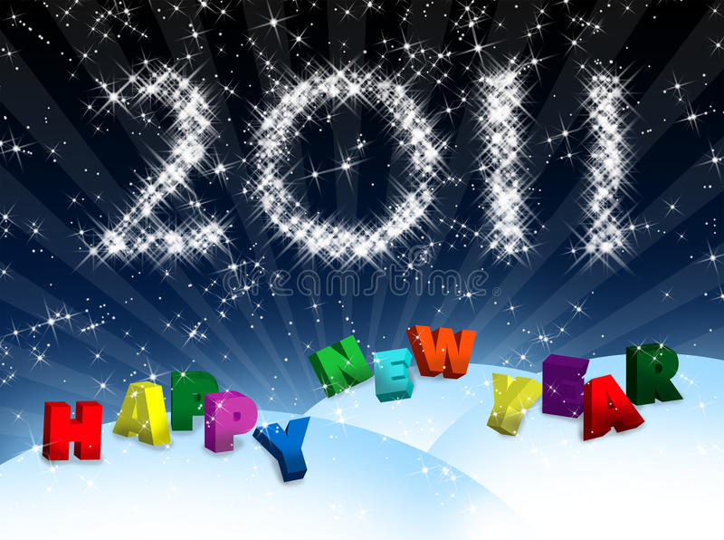 Nieuwjaar royalty-vrije illustratie