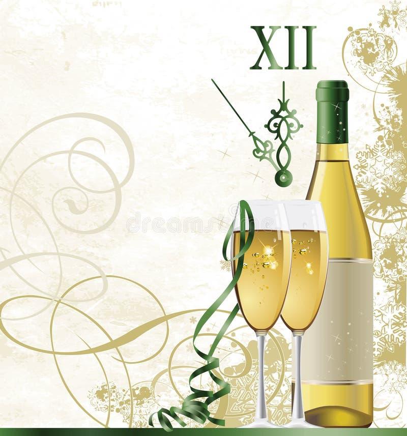 Nieuwjaar. stock illustratie