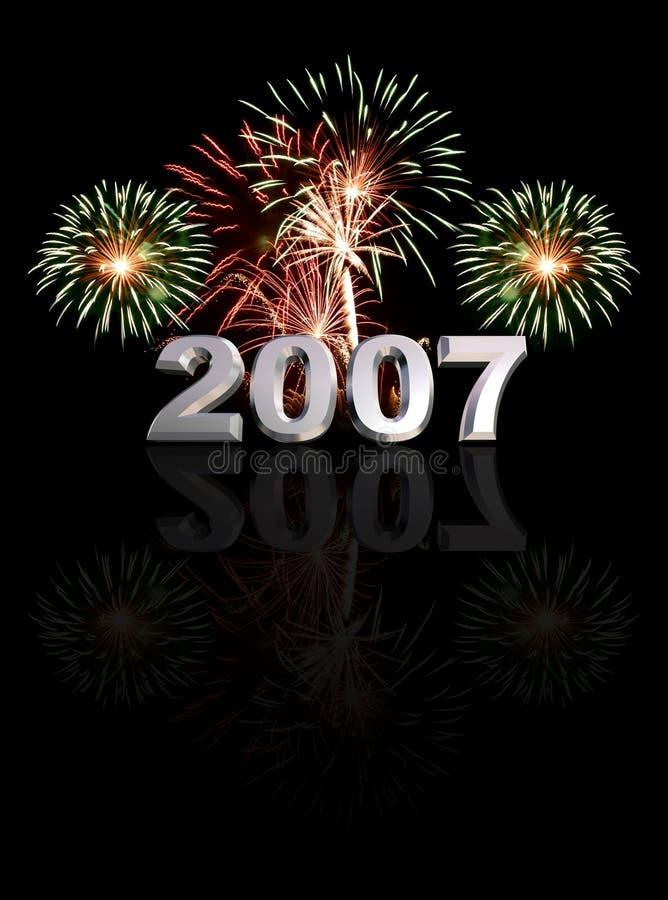 Nieuwjaar 2007 royalty-vrije stock fotografie