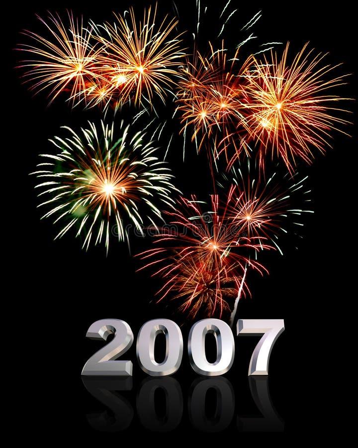 Nieuwjaar 2007 stock afbeelding