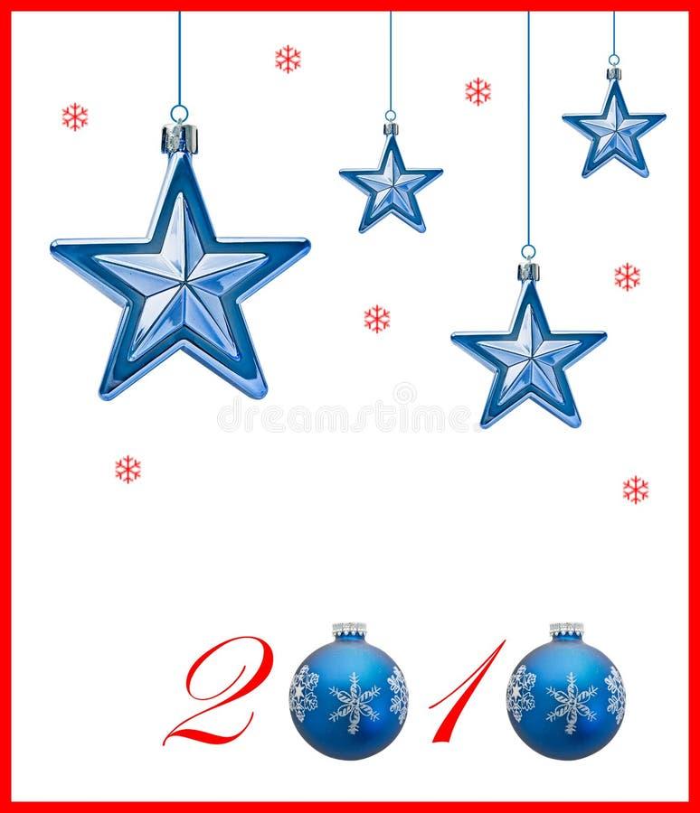 Nieuwjaar 2010 stock illustratie