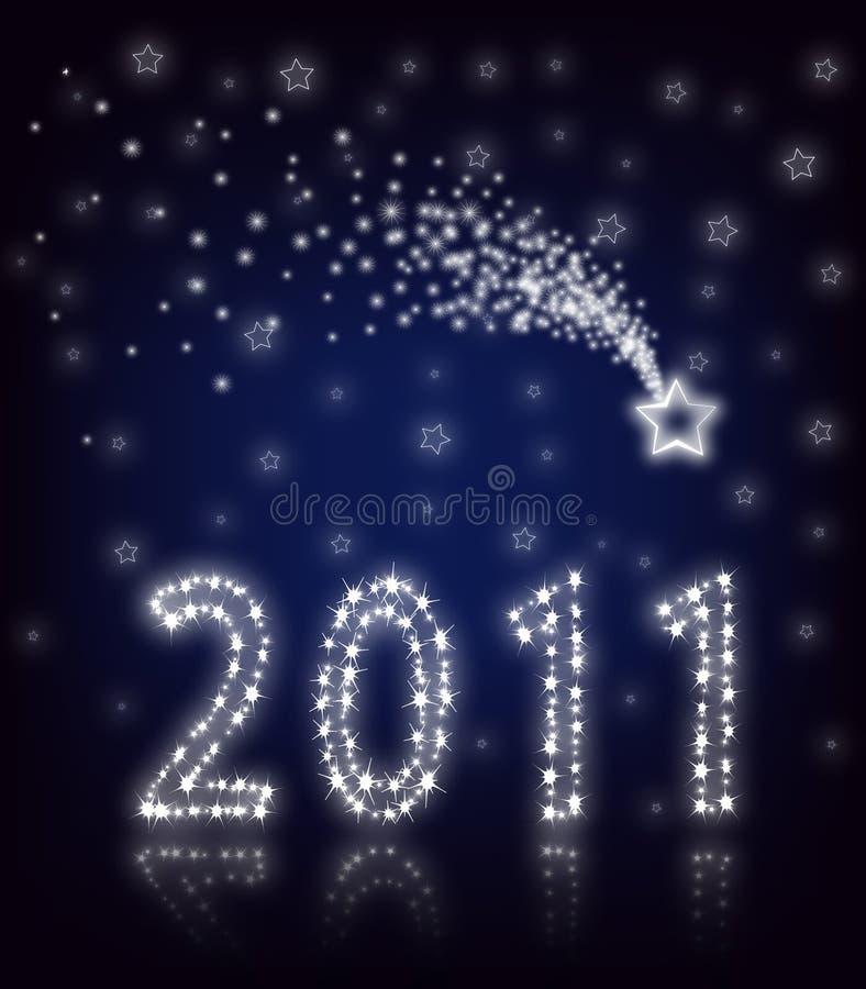 Nieuwjaar 2011. Ster royalty-vrije illustratie