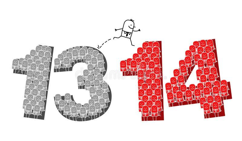 Nieuwjaar 2014 vector illustratie