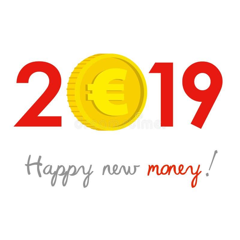 Nieuwjaar 2019 bedrijfsconcept stock illustratie