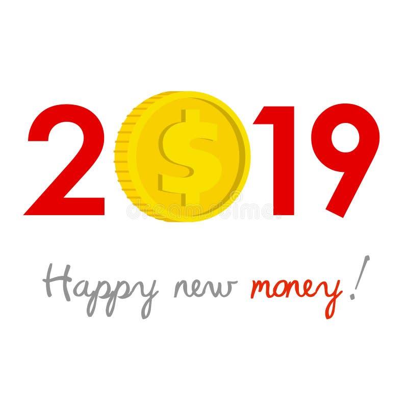 Nieuwjaar 2019 bedrijfsconcept vector illustratie