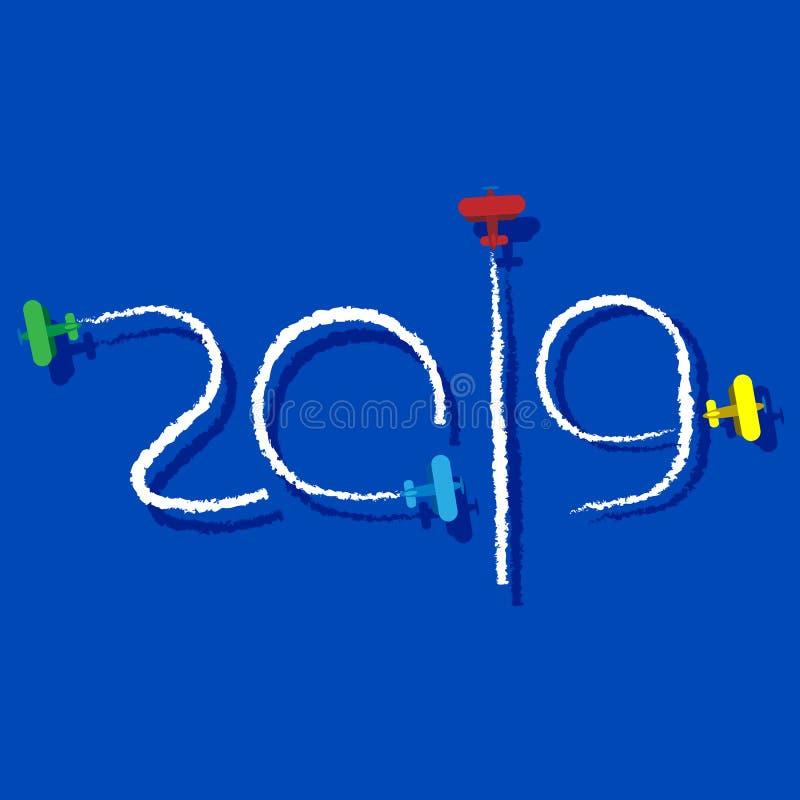 Nieuwjaar 2019 concept vector illustratie