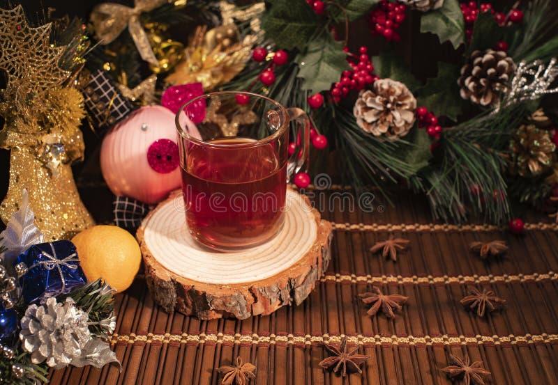 Nieuwjaar en Kerstmisdecor royalty-vrije stock foto