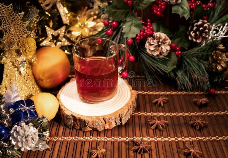 Nieuwjaar en Kerstmisdecor royalty-vrije stock afbeelding