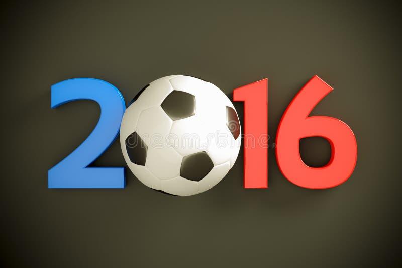 Nieuwjaar en voetbalbal vector illustratie