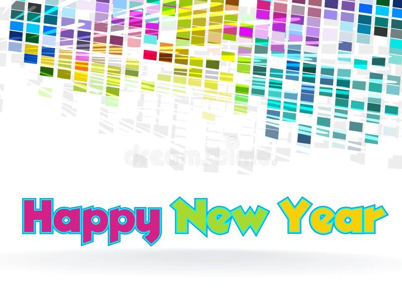 Nieuwjaar - funky grafisch ontwerp royalty-vrije illustratie