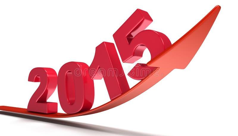 Nieuwjaar 2015 (het knippen inbegrepen weg) royalty-vrije illustratie