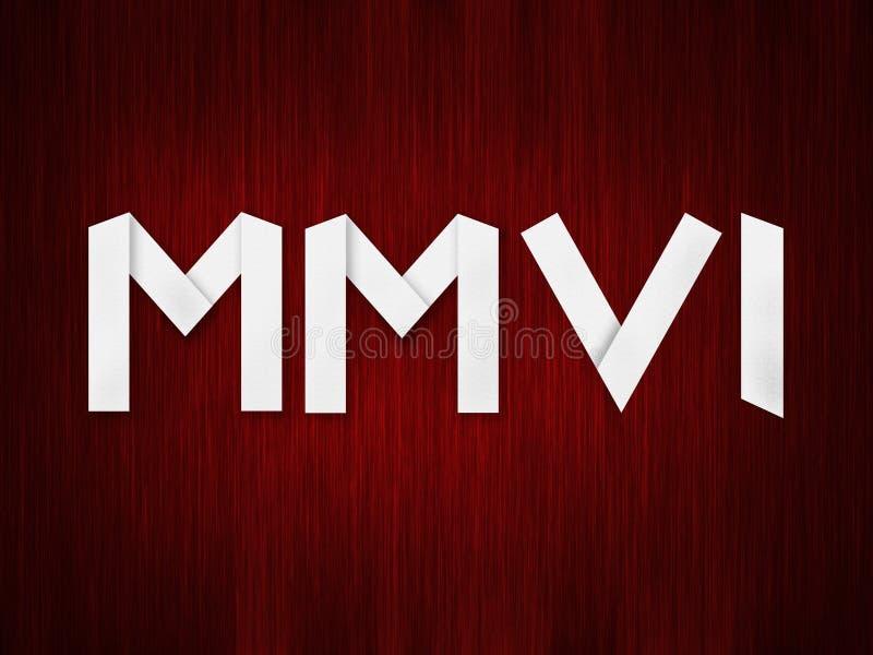 Nieuwjaar MMVI royalty-vrije illustratie
