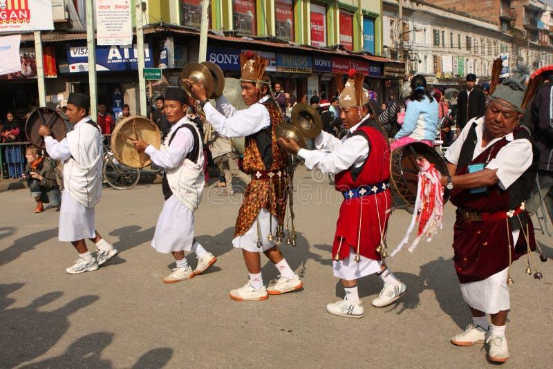 Nieuwjaar in Nepal stock fotografie