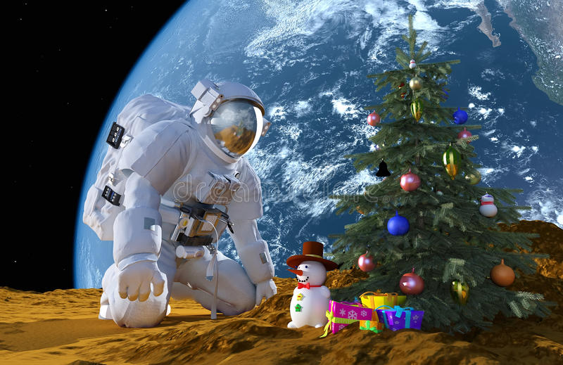 Nieuwjaar in ruimte stock illustratie