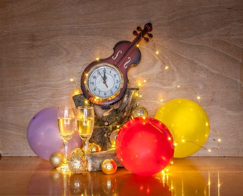 Nieuwjaar` s decoratie stock afbeeldingen