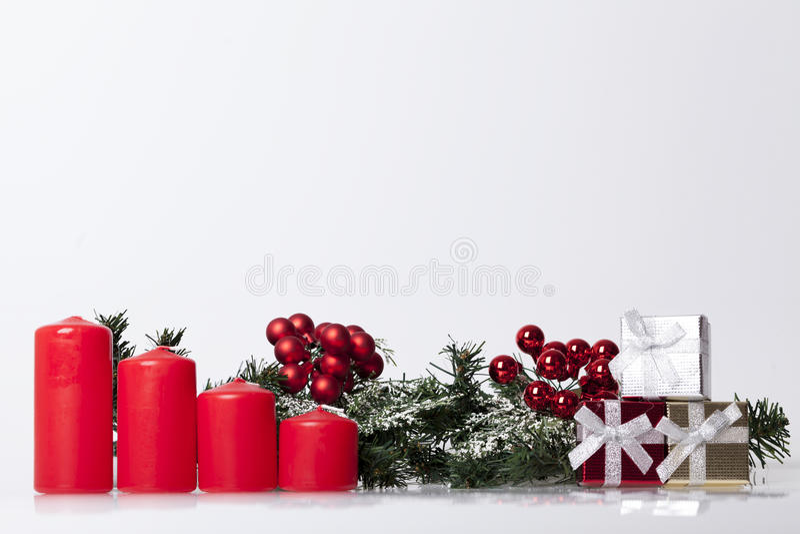 Nieuwjaar ` s en Kerstmisdecoratie royalty-vrije stock afbeeldingen