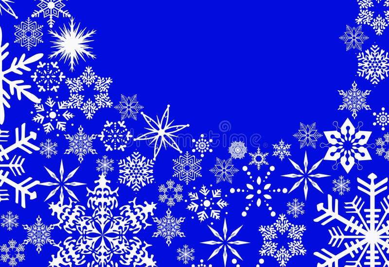 Nieuwjaar` s speelgoed en witte sneeuw stock fotografie