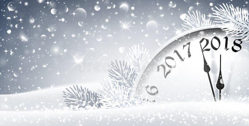 Nieuwjaar` s Vooravond 2018 stock illustratie