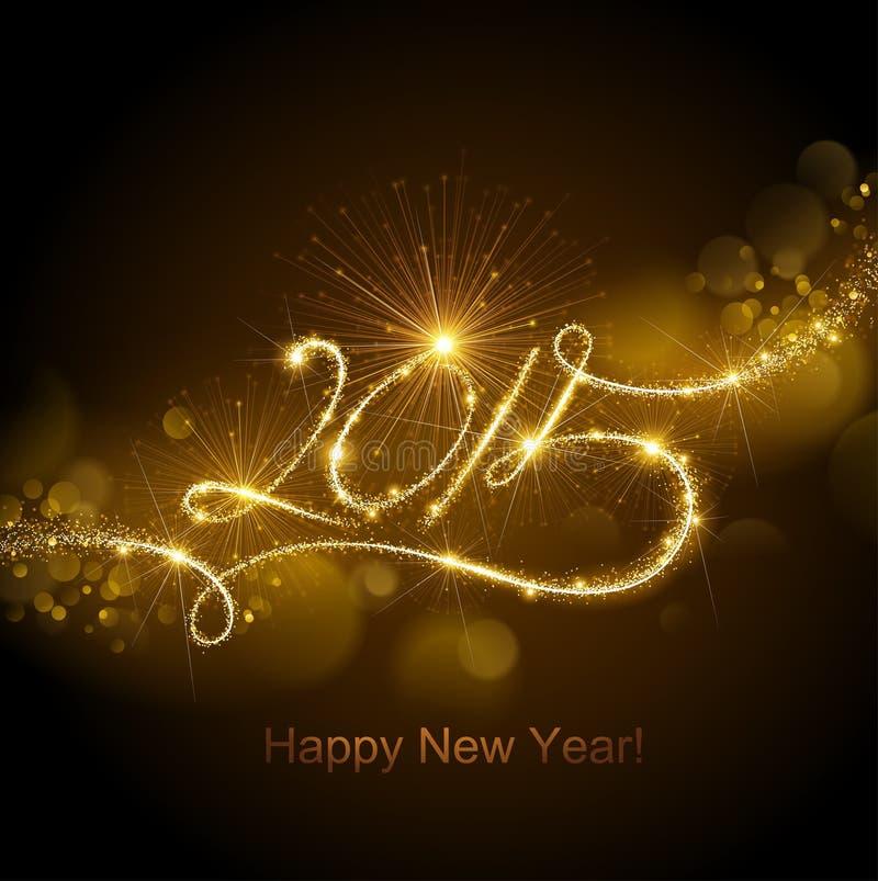 Nieuwjaar 2015 Vuurwerk royalty-vrije illustratie