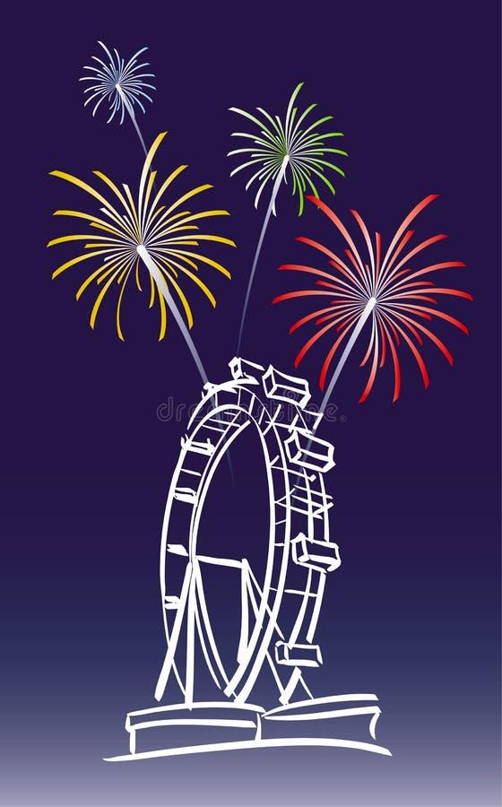 Nieuwjaar in Wenen stock illustratie