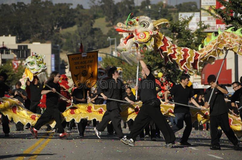 Nieuwjaarparade stock fotografie