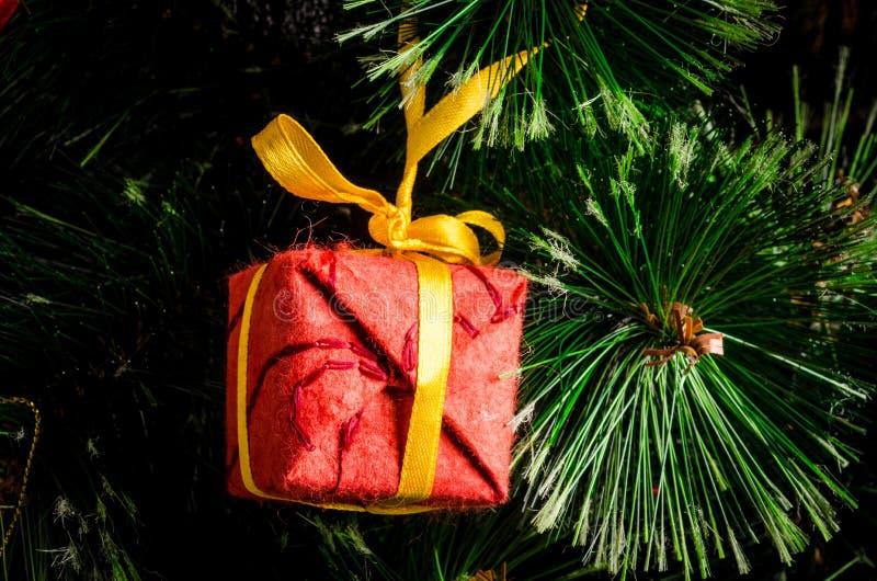 Nieuwjaren boomstuk speelgoed royalty-vrije stock fotografie