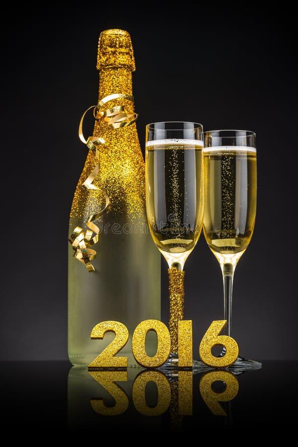 2016 nieuwjaren Vooravond stock afbeelding